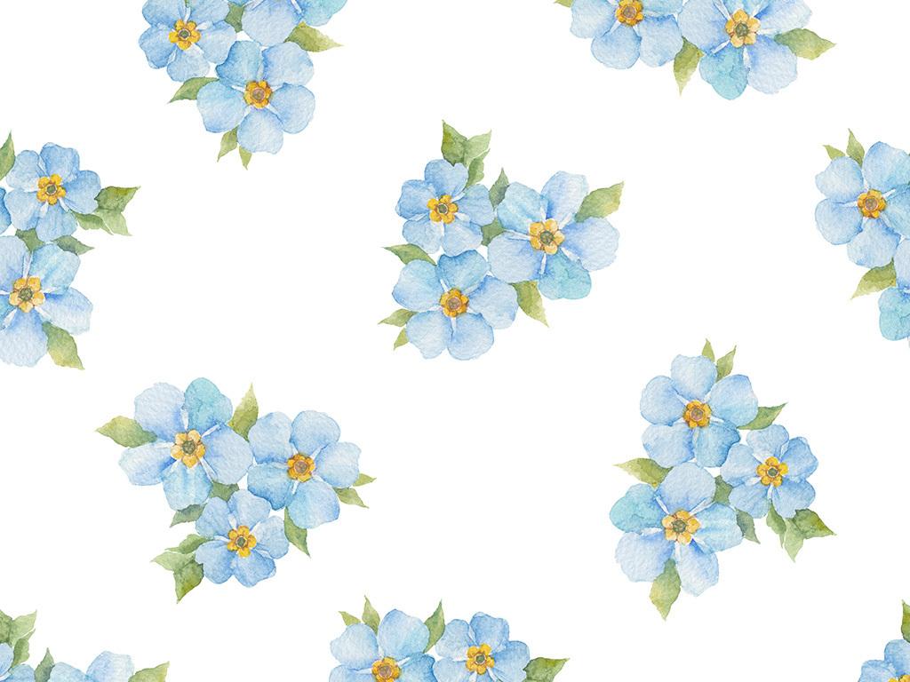 eps)简洁小清新花朵背景底纹清新底纹图片小清新手绘水彩背景