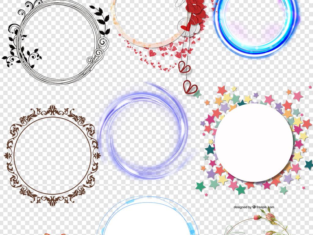 圆环圆形边框圆圈图片背景素材