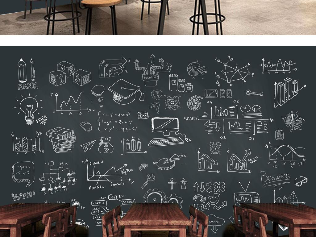 餐饮业装饰背景墙 > 手绘黑板粉笔字咖啡店酒吧背景墙  版权图片 设计图片