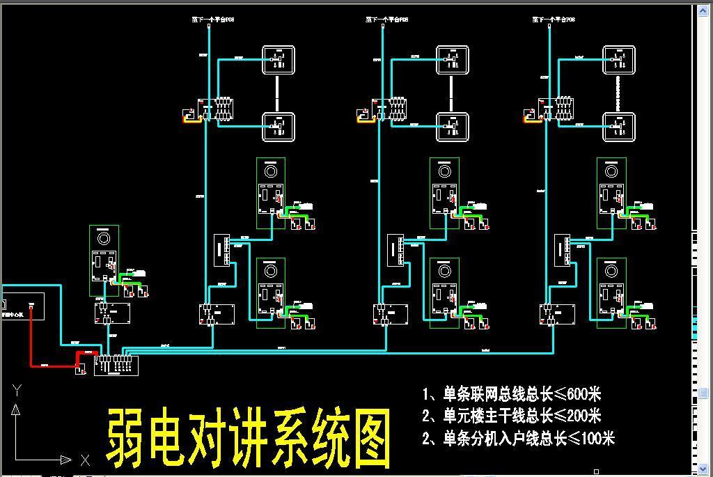 cad图库 室内设计cad图库 cad图纸 > 弱电系统图  版权图片 分享