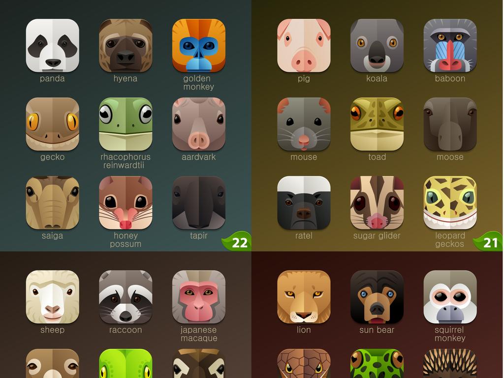 可爱动物头像手机图标电脑桌面卡通logo
