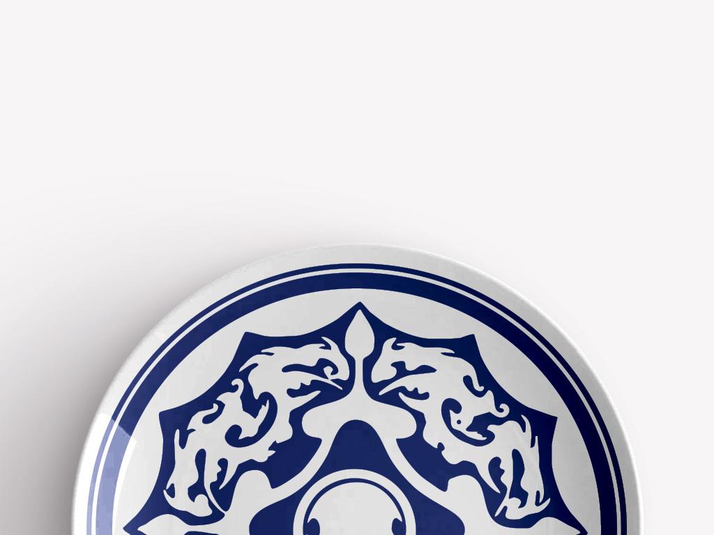 青花瓷吉祥中式鸟瓷盘图案