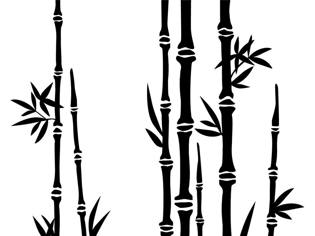 水墨画竹子国画竹子简笔画水墨竹子图片素材 模板下载 0.23MB 中国风边框大全 花纹边框