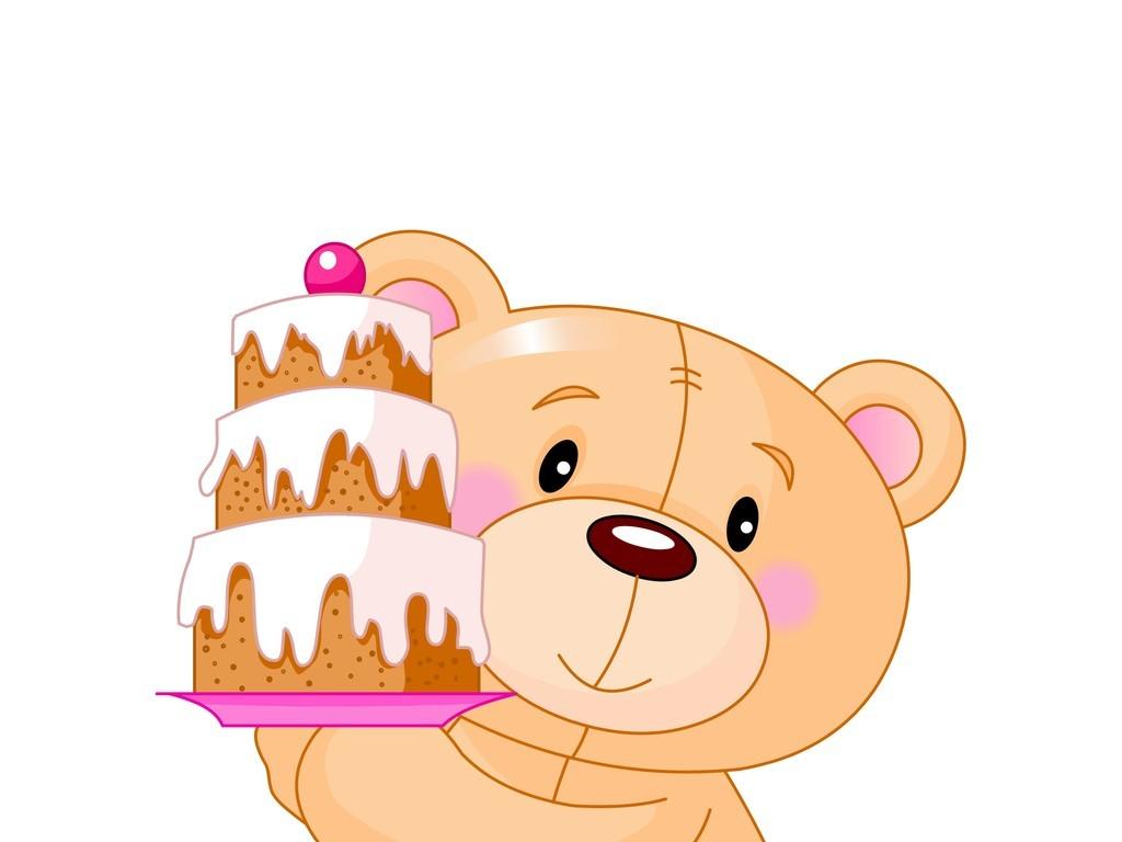 卡通动物小熊蛋糕