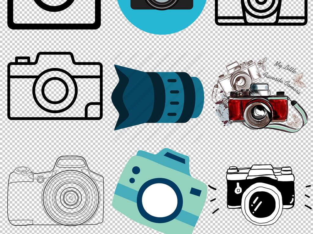 卡通手绘商务相机免扣png素材