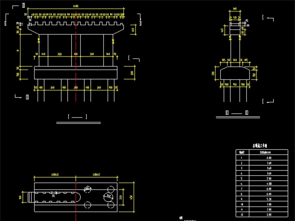 桥墩建筑CAD阵列v桥墩图天正建筑cad尺寸怎么图片