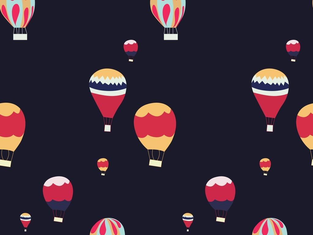 卡通热气球面料图案设计