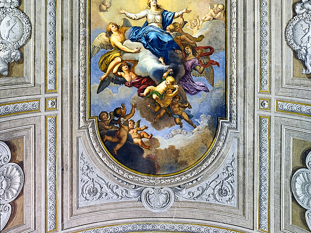 圣母玛利亚升天加冕神话天顶