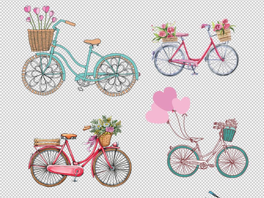 自行车                                  单车手绘风景