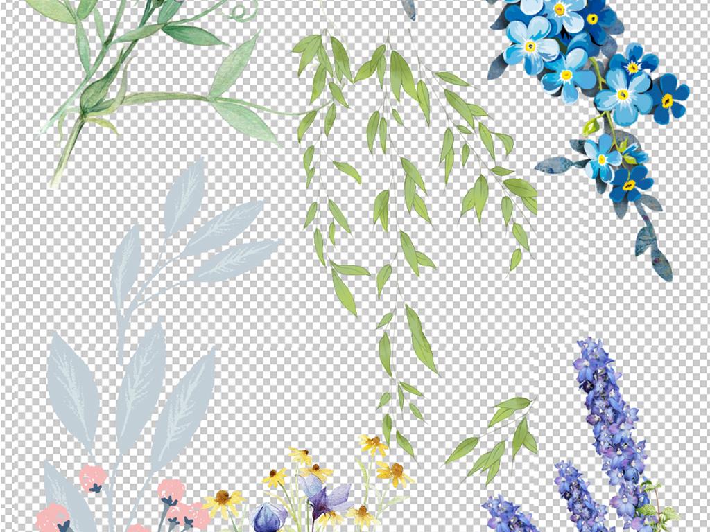 png)花纹背景边框素材树叶素材花朵树叶抽象各种树叶树叶底手绘花朵