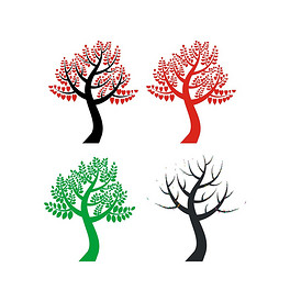 CDR爱心小树 CDR格式爱心小树素材图片 CDR爱心小树设计模板 我图网