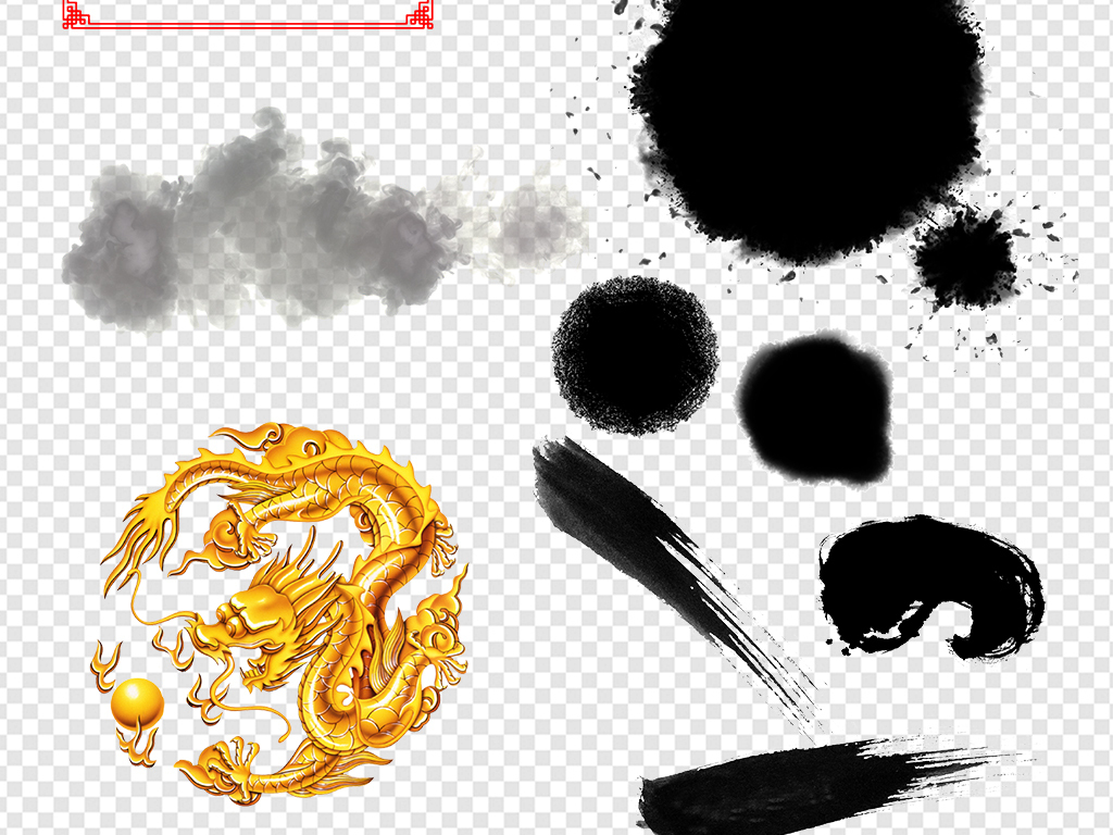 中国风中国风艺术字字体设计中国风圆环圆形边框圆圈图片背景素材水墨