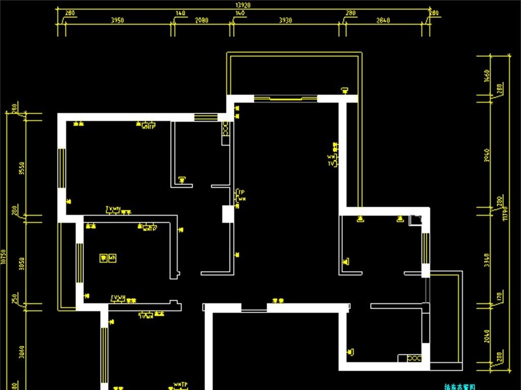 现代室内装修cad设计图