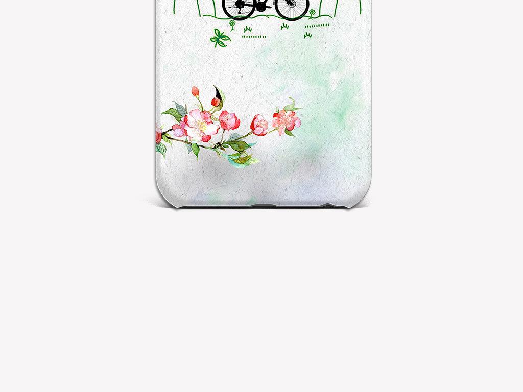 产品图案设计 数码/配件图案 植物花卉图案 > 清爽春季风景手机壳图案