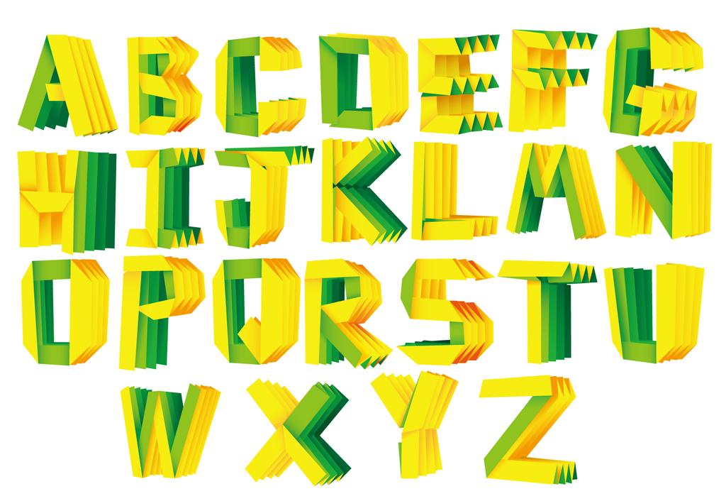 立体折纸包装艺术字创意个性字体美术字