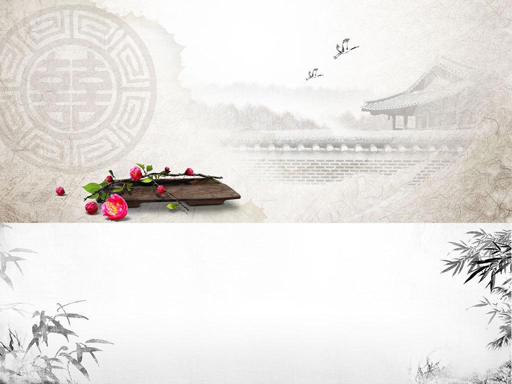 中国风全屏海报背景