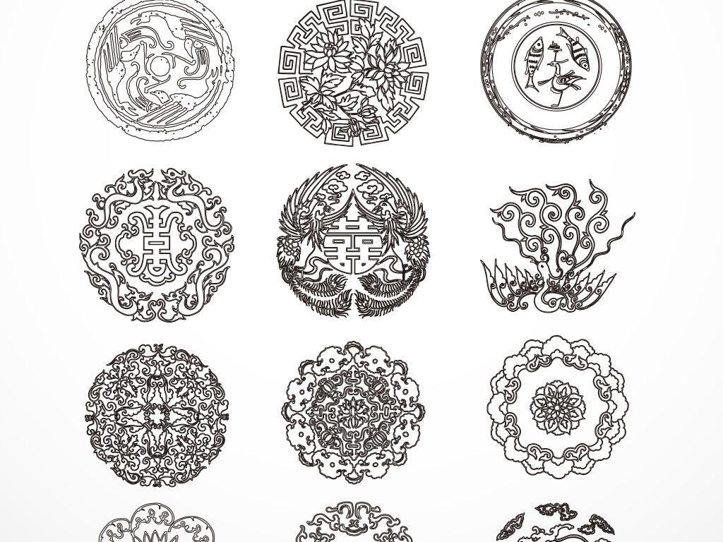 黑色手绘卡通剪纸样式边框素材