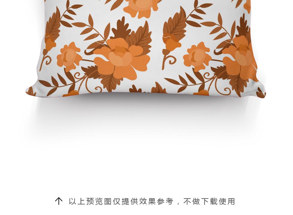 手绘图案抱枕花型设计插画植物花卉欧式花纹
