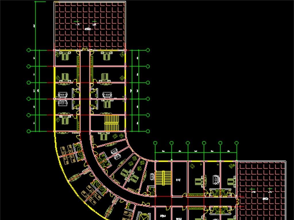 cad规划布局图城市酒店cad平面设计图酒店cad格局平面图酒店建筑施工