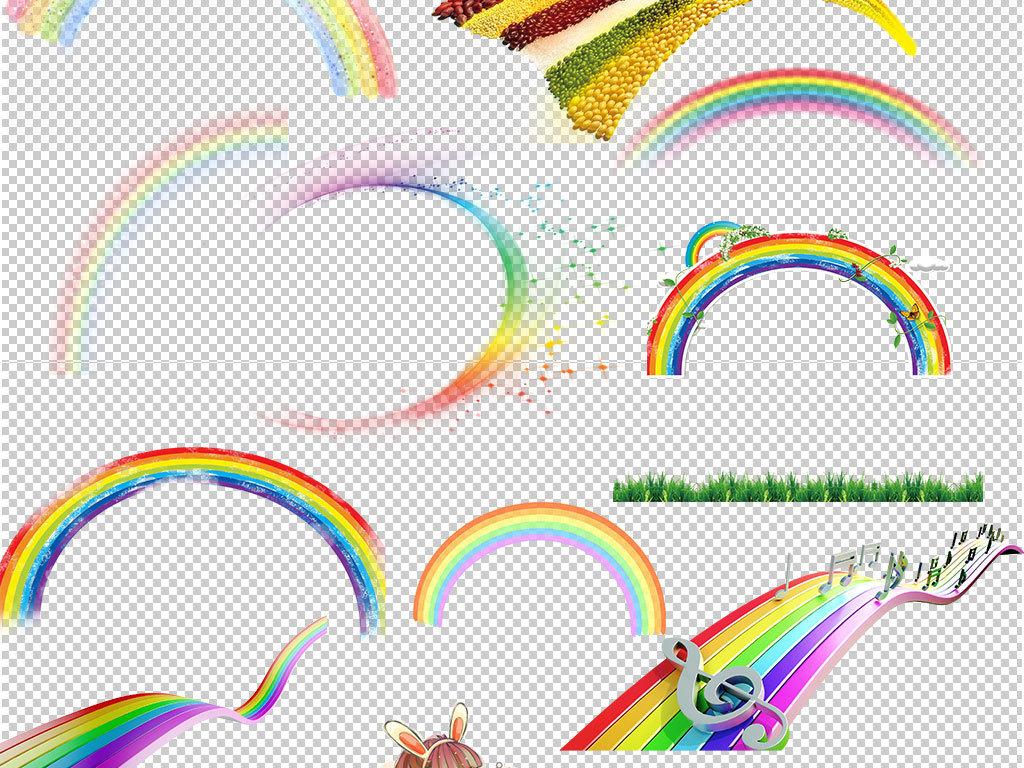 彩虹条                                  手绘彩虹彩虹色