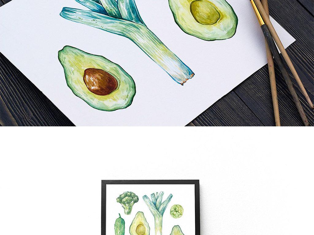清新手绘蔬菜瓜果png免扣设计元素
