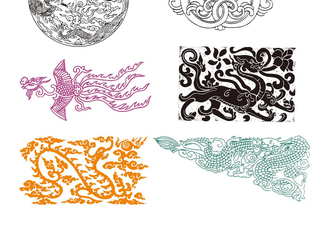花纹过年剪纸古代古风边框极简中国传统元素龙凤ai文-古风动漫美女