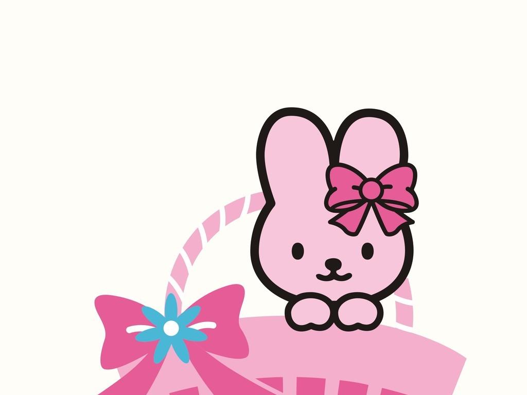 卡通动物兔子装饰插画