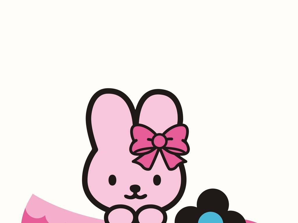 卡通动物兔子