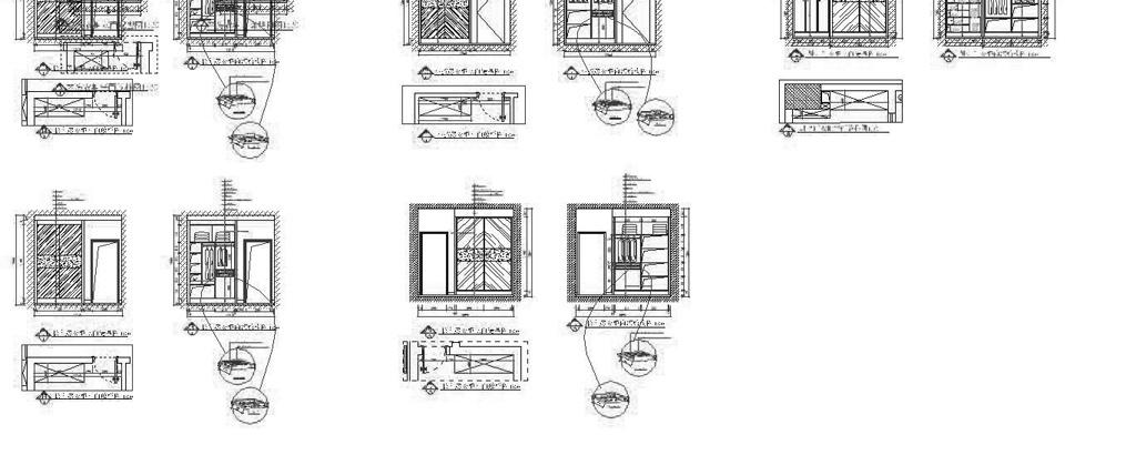 柜子结构尺寸cad图