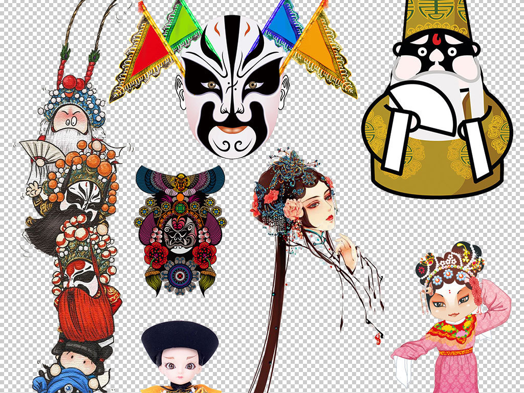 古典京剧脸谱海报设计素材