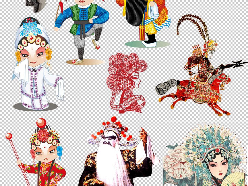 京剧脸谱海报设计中国风素材