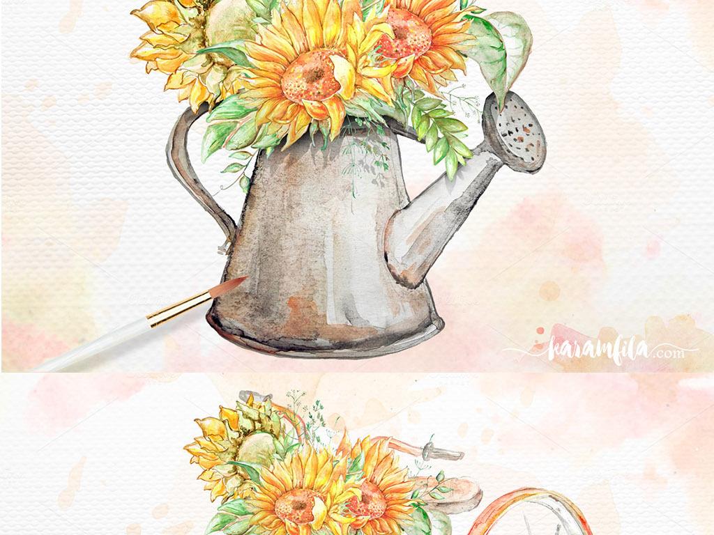 手绘百合花花纹素材手绘新年贺卡素材手绘展板设计素材青花瓷手绘素材