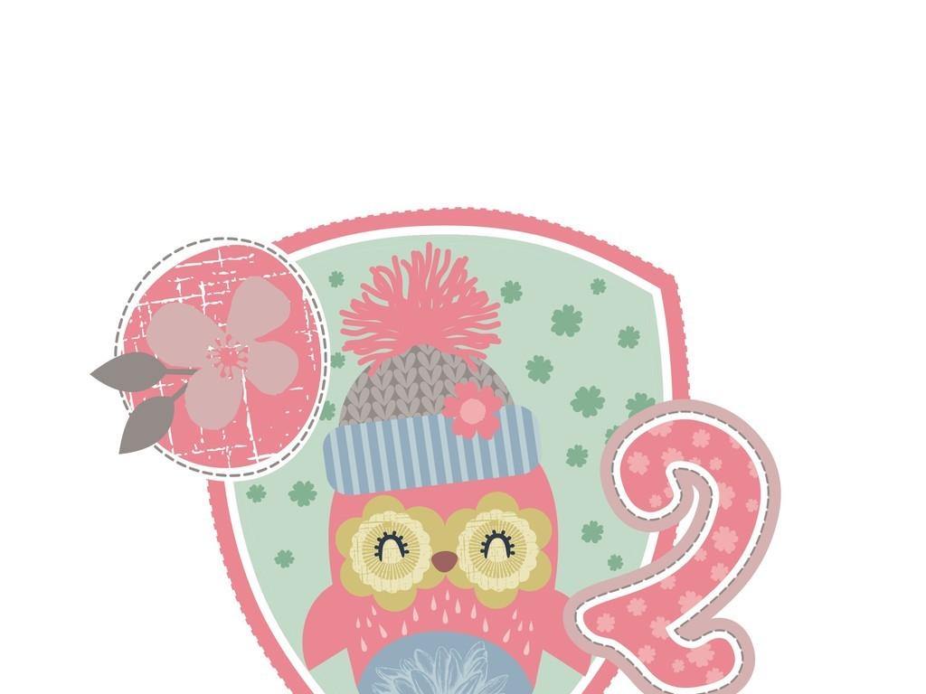 卡通动物图案徽章贴布绣