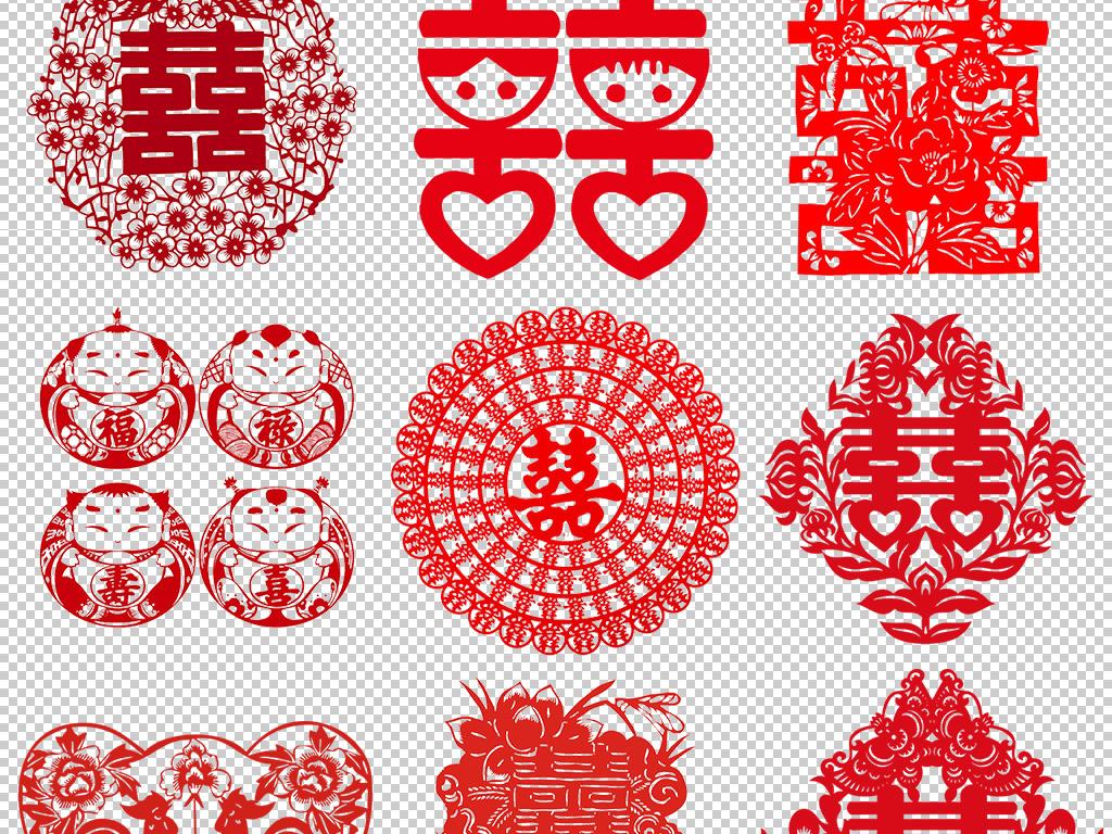 喜字背景喜字边框婚庆喜字婚庆圆形喜字红色喜字中国