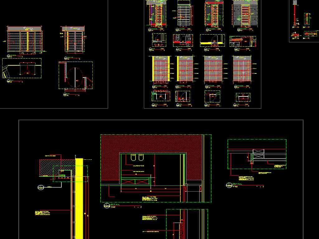 酒店餐厅及套房cad平面设计图