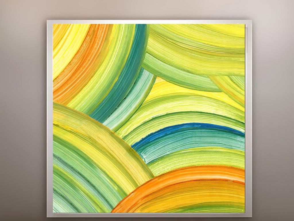 抽象简约油画丙烯装饰画