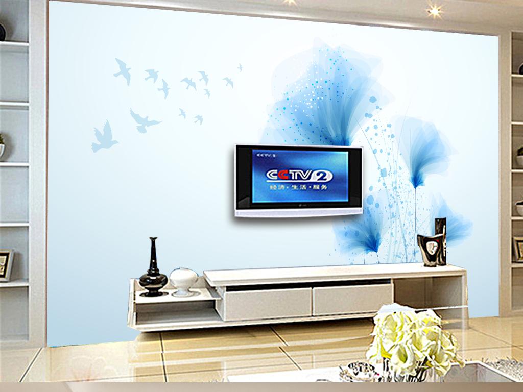 北欧装饰画欧式背景墙现代电视墙手绘背景简约电视墙花纹欧式背景简约