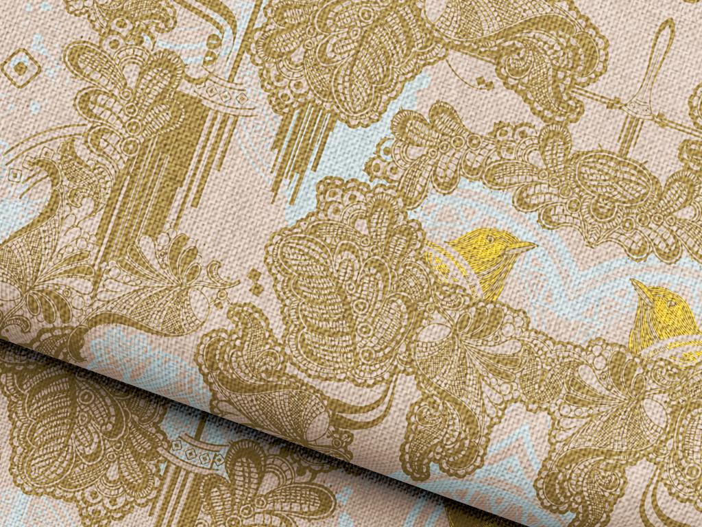 植物花卉抱枕图案设计欧式花纹