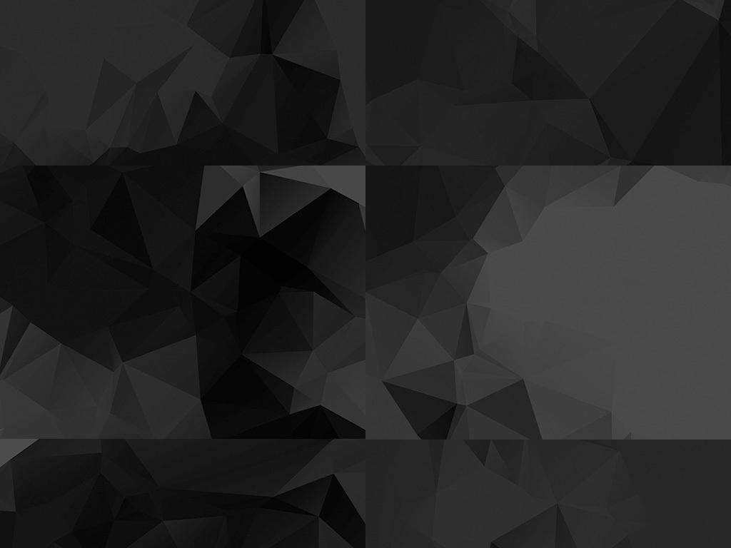 2017黑色多边形几何背景淘宝高清素材
