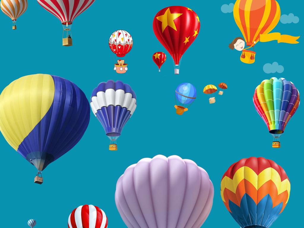 卡通热气球                                  气球气球矢量