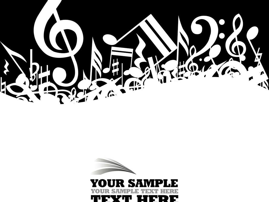 手绘素材五线谱素材音乐音符吉他弹奏钢琴弹奏乐器