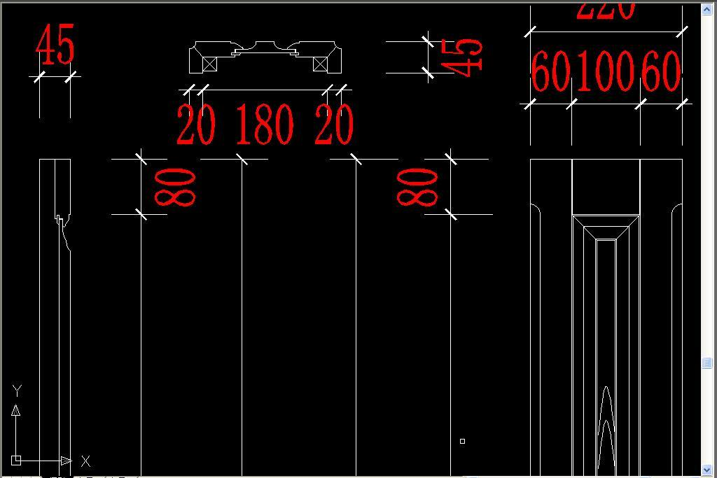 实木酒柜护墙板cad设计详图