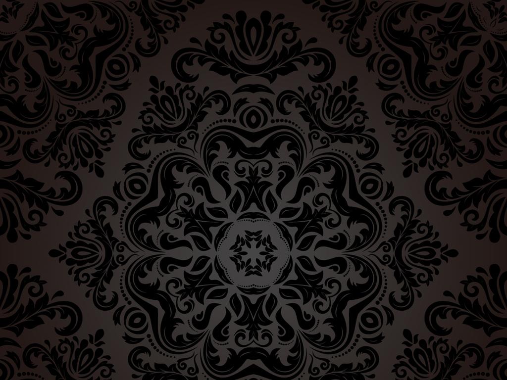 高档背景时尚尊贵欧式花纹底图底纹边框花边