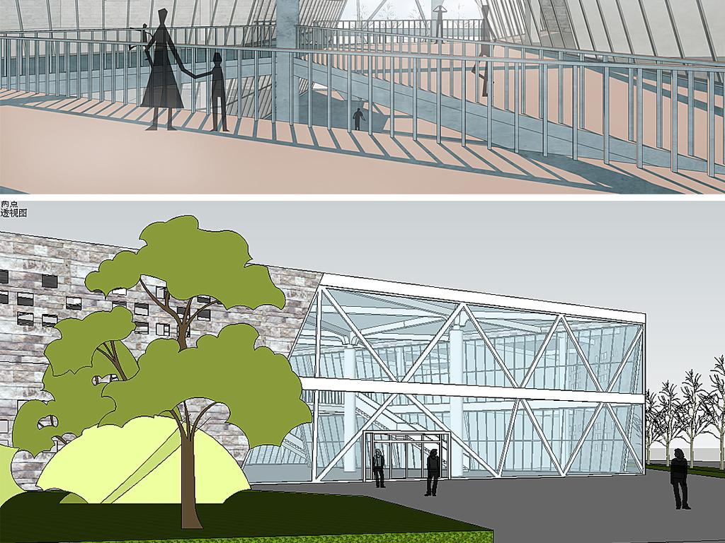 建筑景观园林庭院公园城市规划草图大师毕业设计skp