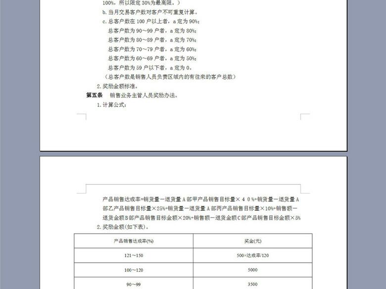 企业销售人员绩效奖金管理条例2P(图片编号:1