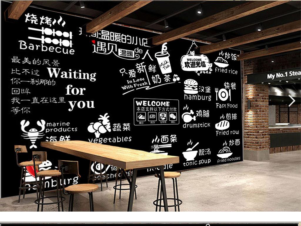 作品模板源文件可以编辑替换,设计作品简介: 复古怀旧手绘黑板餐饮图片