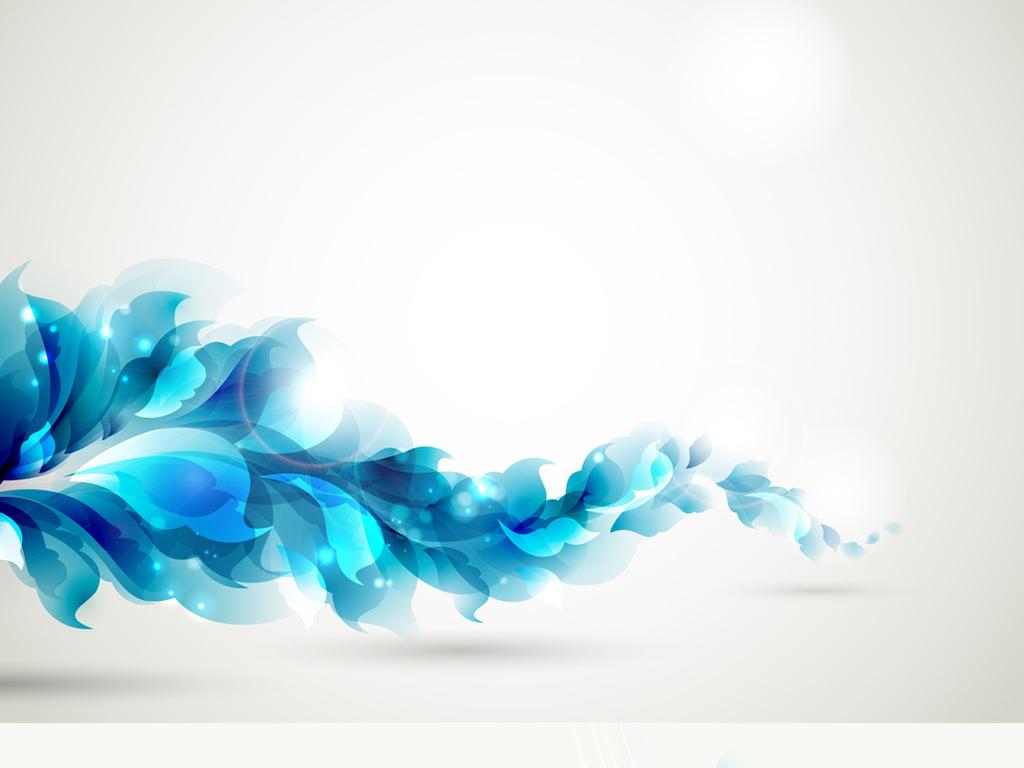 炫丽线条元素背景创意水彩画树木花朵植物