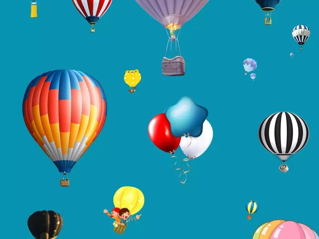 节日喜庆png氢气球素材矢量