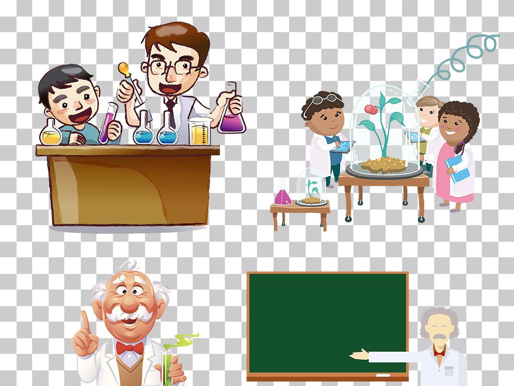 科学化学实验人物png透明背景素材