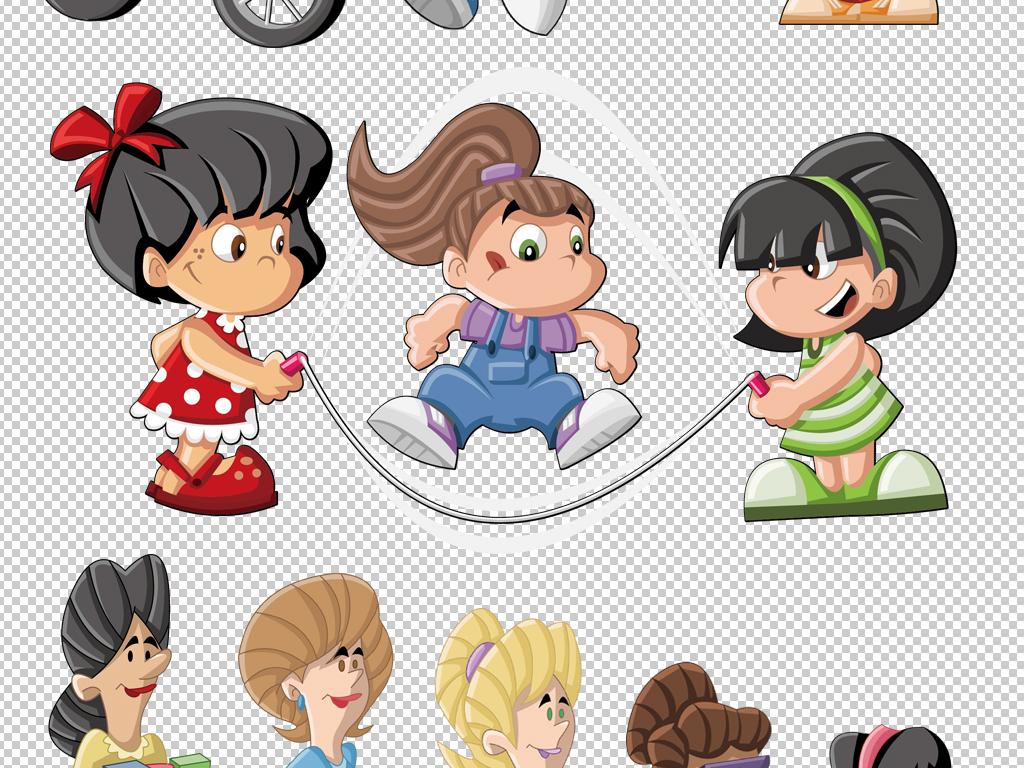 卡通儿童人物男孩女孩